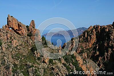 Corsica  sea and mountains