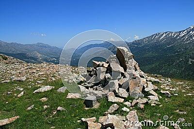 Corsica sky and mountains