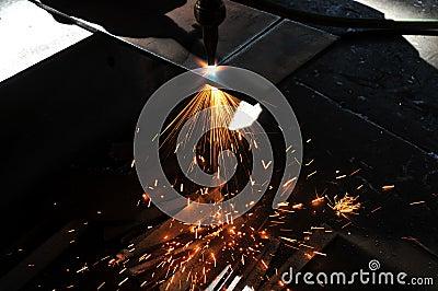 Corte de gas de la hoja de metal