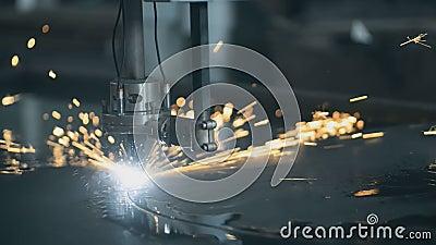 Corte do laser do metal video estoque