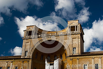 Cortile della Pigna Editorial Photography