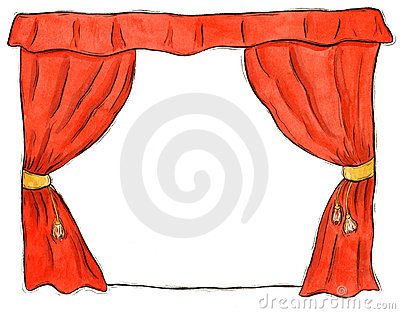 Cartoon Stage Curtains