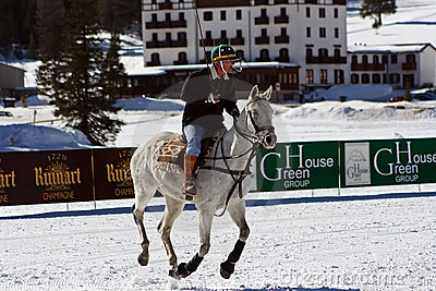 Cortina winter polo cup 2008 Editorial Stock Photo