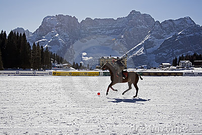 Cortina winter polo cup 2008 Editorial Photo