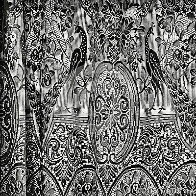 Cortinas antiguas en blanco y negro foto de archivo - Cortinas en blanco y negro ...