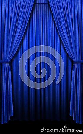 Cortinas azules en formato vertical imagenes de archivo for Cortinas azules baratas