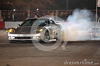 Corvette car drift Editorial Image