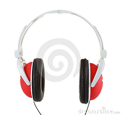 Coseup of headphones