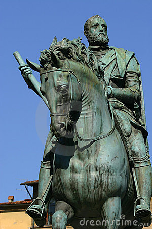 Cosimo Medici statue in Florence, Italy