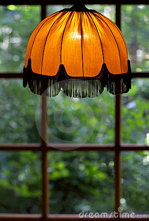 Cosiness of an old lamp shade