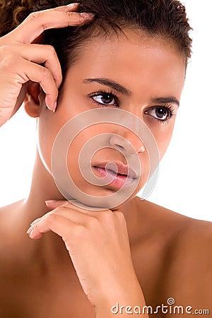 Cosmetic african girl