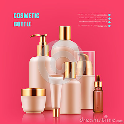 Free Cosmetic Bottle Realistic Royalty Free Stock Photos - 96373958