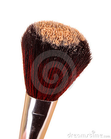 Free Cosmetic Brush And Powder Royalty Free Stock Images - 19222119