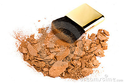 Cosmetic brush and powder