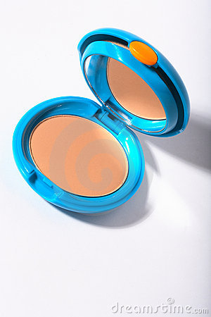 Cosmetic compact powder box