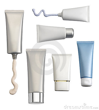 Free Cosmetic Containers Royalty Free Stock Photography - 13436567