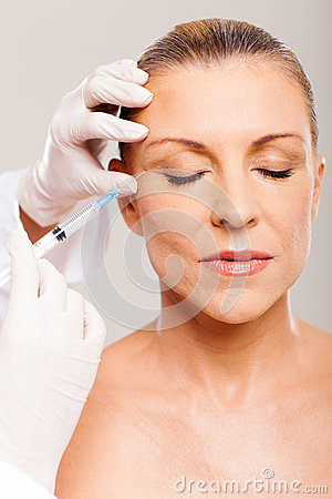 Cosmetic injection woman