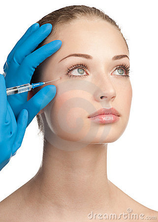 Free Cosmetic Injection Of Botox Royalty Free Stock Photos - 22719928
