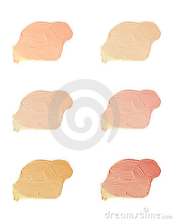 Cosmetic liquid foundation samples