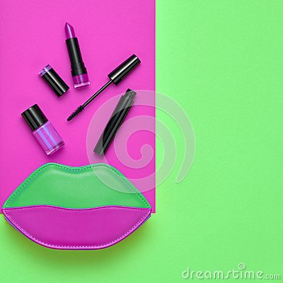 Free Cosmetic Minimal Makeup Set. Beauty Essentials. Royalty Free Stock Photos - 117701838