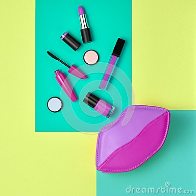 Free Cosmetic Minimal Makeup Set. Beauty Essentials. Royalty Free Stock Images - 117701839