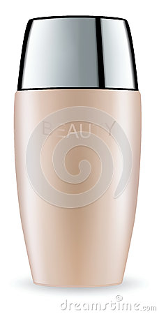 Cosmetic packaging plastic tube. Vector. Vector Illustration