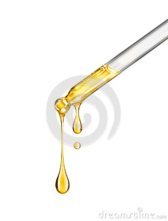 Free Cosmetic Pipette With Drops Of Cosmetic Oil Close-up On A White Royalty Free Stock Photos - 111230858