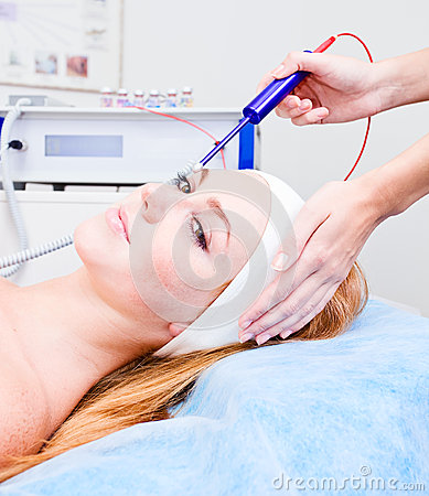 Cosmetic procedures in spa clinic