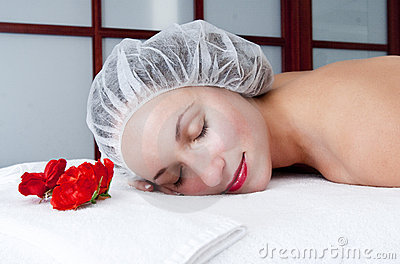 Cosmetic procedures in spa salon