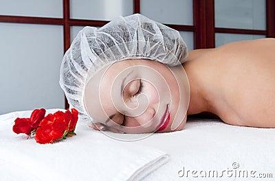 Cosmetic procedures in spa salon