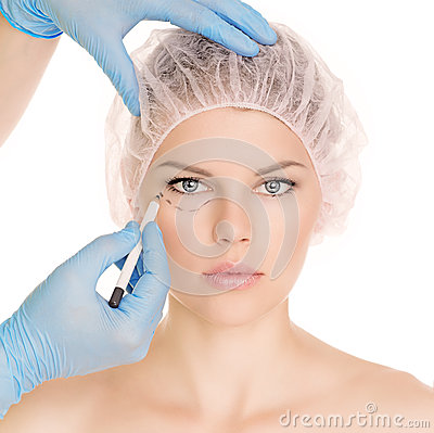 Free Cosmetic Surgery Woman Royalty Free Stock Photo - 33475715