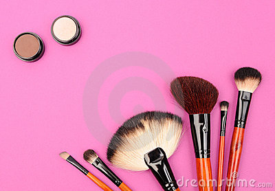 Cosmetics and brushes