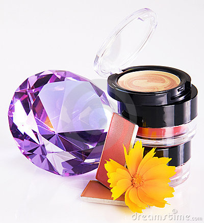 Cosmetics with a crystal