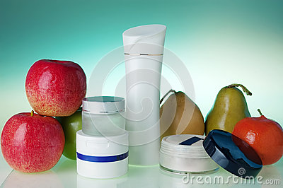 Cosmetics and fruits