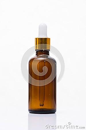 Free Cosmetics, Moisturizer, Serum Bottle Isolated On White. Stock Photography - 94168192