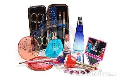 Cosmetics, perfumery and tools for nails