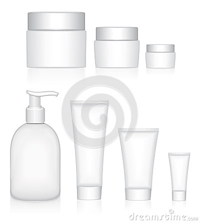 Cosmetics products. Beauty containers.