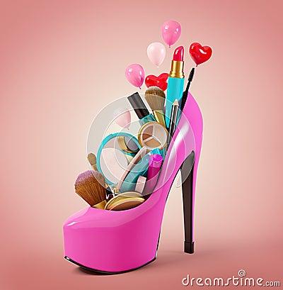 Free Cosmetics Set Stock Photos - 35405483