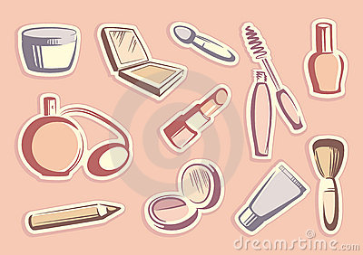 Cosmetics stickers