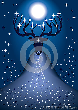 Cosmic Christmas deer