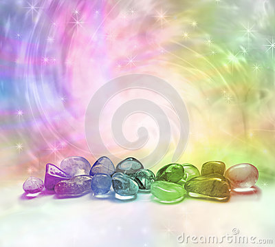 Free Cosmic Healing Crystals Royalty Free Stock Images - 43275209