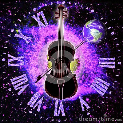 Free Cosmic Music And Space-Time Synergy Royalty Free Stock Photography - 128575797