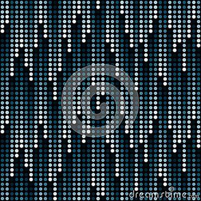 Cosmic rain of halftone dots