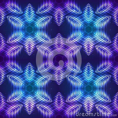 Cosmic shining vector abstract seamless pattern