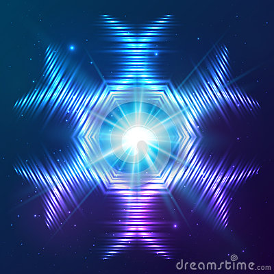 Cosmic shining vector abstract star