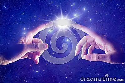 Cosmic spiritual touch