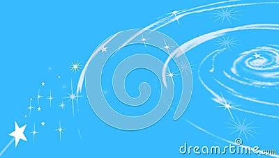 Cosmic swirl with stars