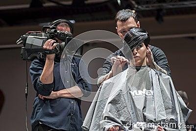 COSMOBELLEZA 2014, XAVI GARCIA SHOW Editorial Stock Photo