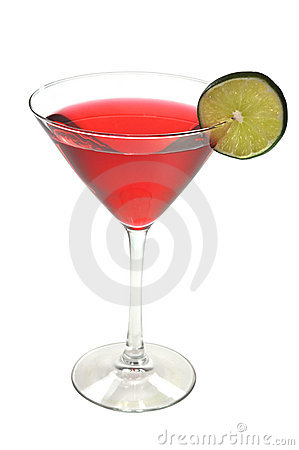 Cosmopolitan Drink, Lime, Isolated, Clipping Path