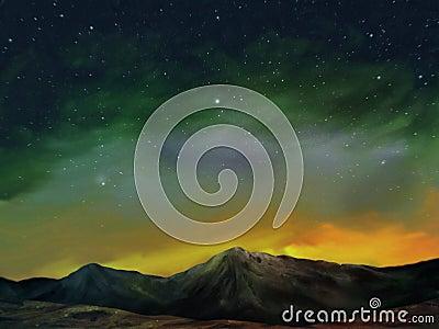 Cosmos - pintura de paisaje de Digitaces